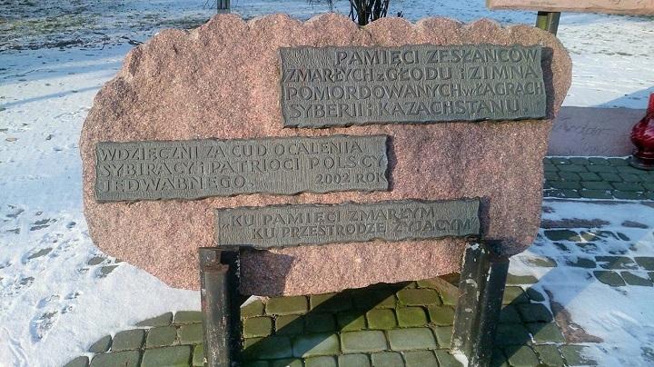 Pomnik upamietniający ofiary zsyłek dołagrów Syberii iKazachstanu