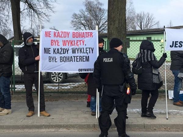 Protest Obywateli RP wHajnówce