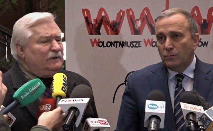 Lech Wałęsa i Grzegorz Schetyna apelują do Pawła Adamowicza