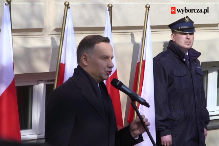 Prezydent Andrzej Duda naobchodach 50. rocznicy Marca'68