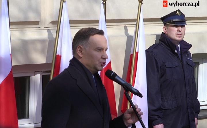 Prezydent Andrzej Duda na obchodach 50. rocznicy Marca'68