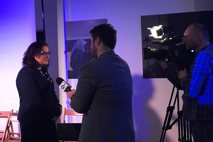 Ewa Lieder po spotkaniu udzieliła wywiadu telewizji TVN