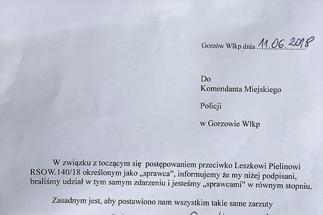 14 osób złożyło napolicji  wGorzowie Wielkopolskim autodonosy