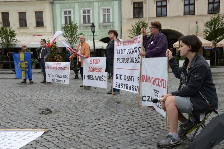 Protest narynku wCieszynie