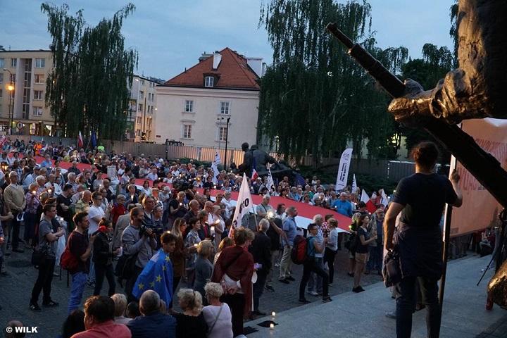 """Demonstracja """"Europo, nieodpuszczaj"""", Warszawa, 18.06.2018"""