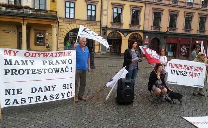 Pikieta na rynku w Cieszynie