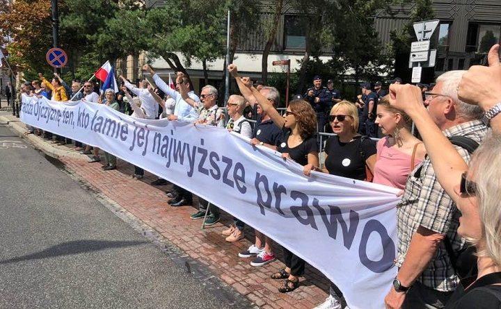 Demonstracja przed Sejmem, 13 lipca 2018