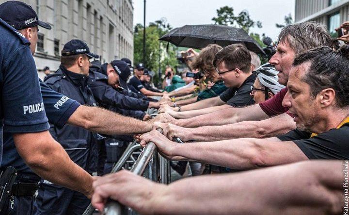 Demonstracja przed Sejmem, 18.07.2018