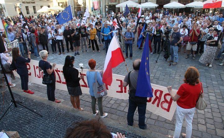 03.07.2018 Wroclaw . Protest w obronie Sadu Najwyzszego .