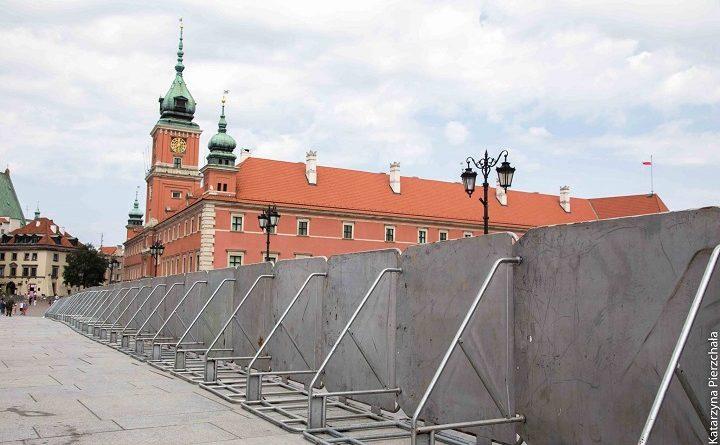 Warszawa za barierkami. 10 lipca 2017