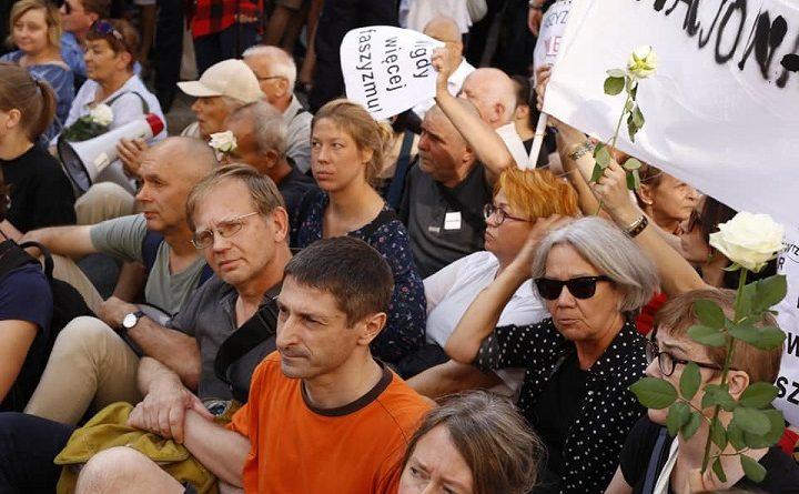 Blokada marszu ONR, Warszawa, 15.08.2018