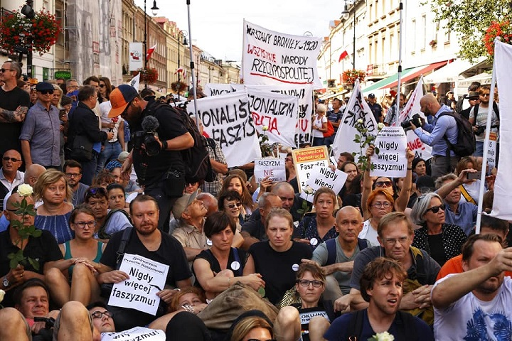 Blokada marszu ONR, Warszawa, 15 sierpnia 2018