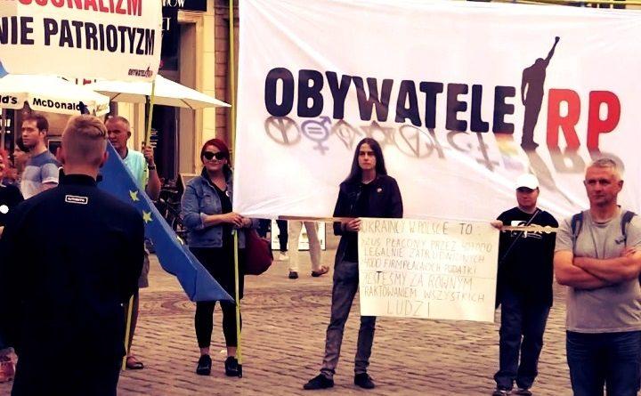 Wrocławscy Obywatele RP na pikiecie ONR w Rynku