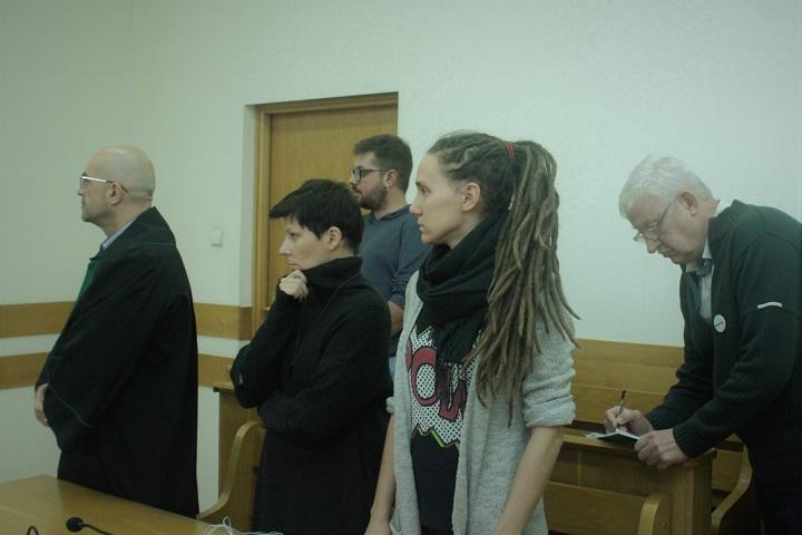 Wysłuchanie wyroku wsprawie Igora Isajewa, Joanny Gzyra Iskandar, Piotra Stańczaka, Kingi Kamińskiej iAnny Wieczorek