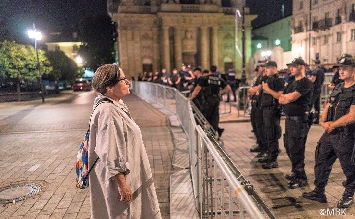 Agnieszka Holland na Krakowskim Przedmieściu