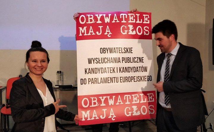 Wysłuchanie publiczne kandydatów do europarlamentu