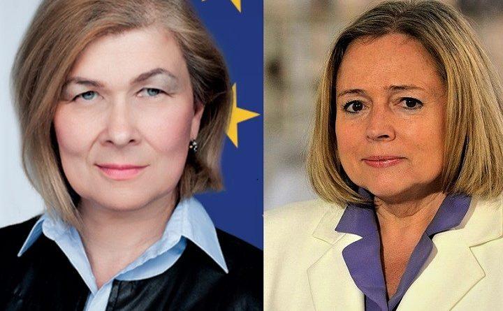 Elżbieta Długołęcka i Wanda Nowicka